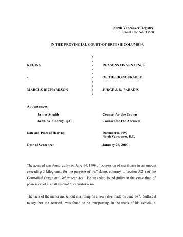 Regina v. Richardson - Medical Marijuana - Drug Policy Alliance
