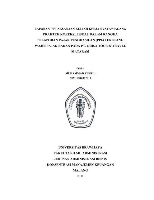 Laporan Magang Universitas Brawijaya