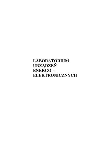 laboratorium urządzeń energo – elektronicznych - ssdservice.pl