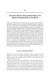 Economic Reform, Rising Nationalism, and Japan's Changing Role ...