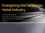 Energizing the Caribbean Hotel Industry - Caribbean Tourism ...