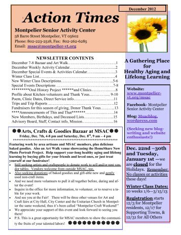 Action Times - City of Montpelier, Vermont