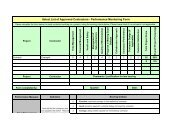 Select List of Approved Contractors - Performance Monitoring Form