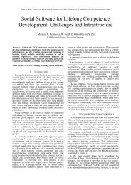 Social Software for Lifelong Competence ... - Daniel Olmedilla