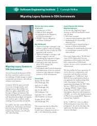 Migrating Legacy Systems to SOA Environments - Software ...