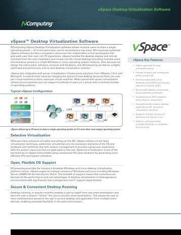 vSpace™ Desktop Virtualization Software - Seneca