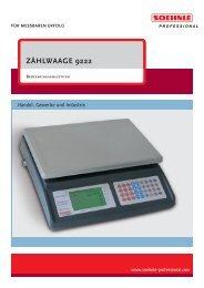 ZÄHLWAAGE 9222 - Soehnle Professional