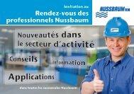 Rendez-vous des professionnels Nussbaum - R. Nussbaum AG