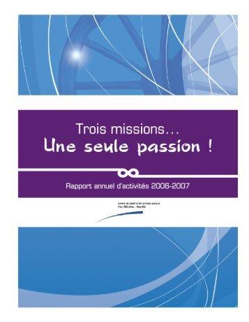 Rapport annuel d'activités 2006-2007 - Santé Montérégie