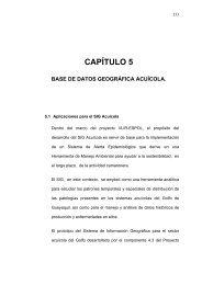 capítulo 5 base de datos geográfica acuícola. - DSpace en ESPOL