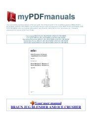 User manual BRAUN JUG BLENDER AND ICE CRUSHER - 1
