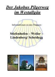 Der Jakobus Pilgerweg im Westallgäu Stiefenhofen – Weiler