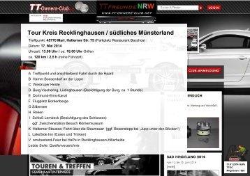 Tour Kreis Recklinghausen / südliches Münsterland