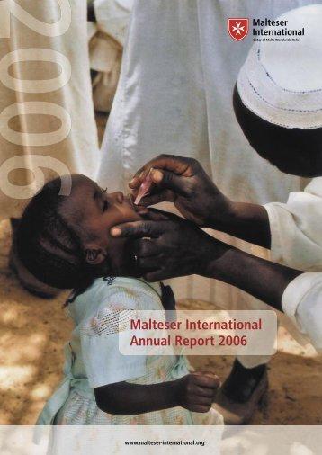Malteser International Annual Report 2006 - Ordine di Malta