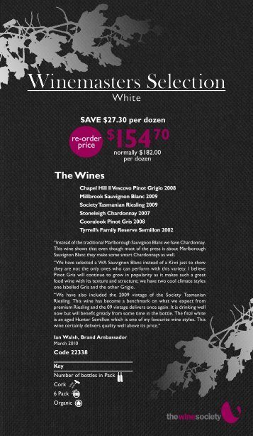 Winemaster's Selection March 2010 - White - The Wine Society