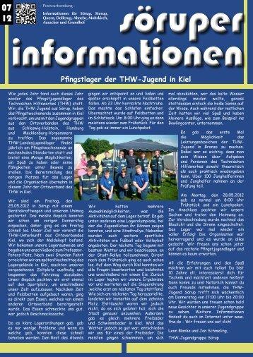 Pfingstlager der THW-Jugend in Kiel