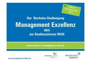 Management Exzellenz - Hochschule Ansbach