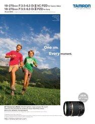 18-270mm F/3.5-6.3 Di II VC PZDfor Canon, Nikon 18-270mm F/3.5 ...