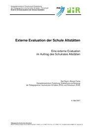 Externe Evaluation der Schule Altstätten