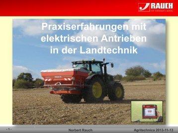 Elektrischer Steuerblock - Agritechnica