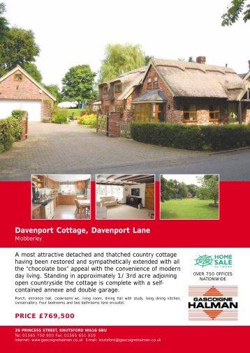 Davenport Cottage, Davenport Lane