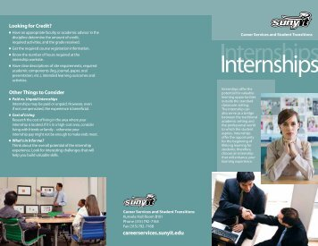 Internships - SUNY Institute of Technology