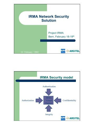February 2002 - IRMA Network Security Solution (pdf)