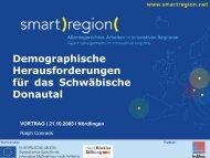 Demografische Herausforderungen für das ... - Smart Region