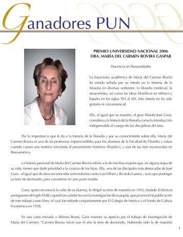Dra. Carmen Rovira - dgapa unam