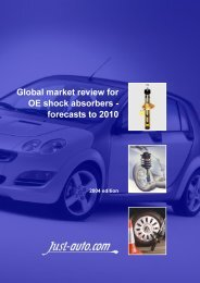 Global market review for OE shock absorbers - Just-Auto.com