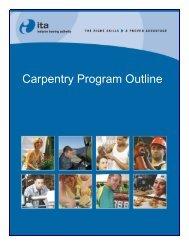 Carpentry Program Outline - Industry Training Authority