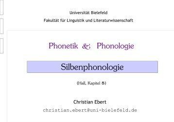 Silbenphonologie