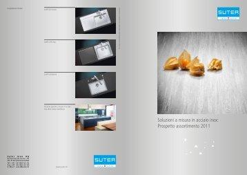 Soluzioni a misura in acciaio inox: Prospetto ... - Suter Inox AG