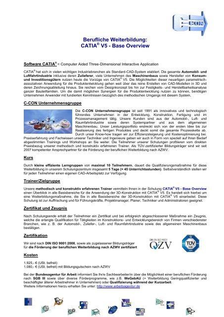 CATIA V5 - Base Overview - C-Con Gmbh