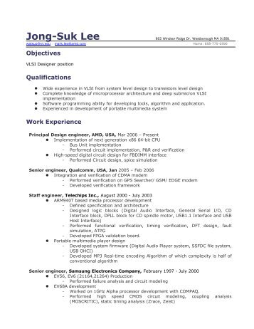 Resume   VTVT   Virginia Tech  Virginia Tech Resume