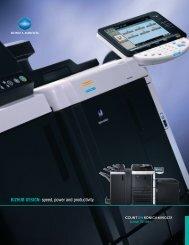 BIZHUB DESIGN: speed, power and productivity. - Konica Minolta