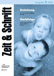Heft 3/2004 - Zeit & Schrift