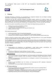 EFFC Nachhaltigkeits-Charta