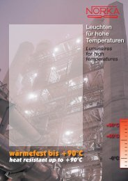 Heat resistant luminaires