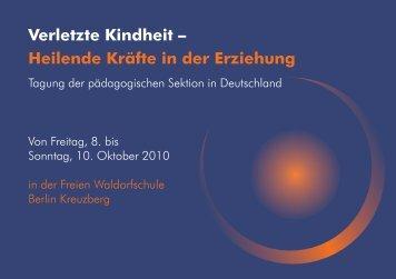 Tagungsprogramm - Freie Waldorfschule Kreuzberg