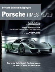 Porsche Zentrum Göppingen Porsche Intelligent Performance.