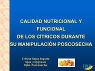 Calidad nutricional y funcional de los cítricos durante s - IVIA