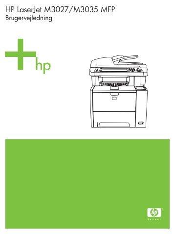 Brug af kontrolpanelet - FTP Directory Listing - Hewlett Packard