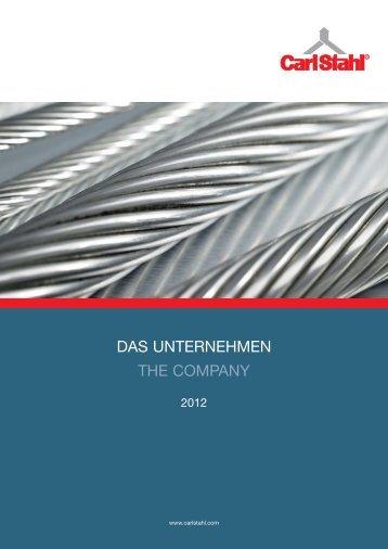 Unternehmensbroschüre Company Profile - Carl Stahl GmbH