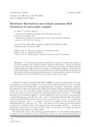 Resistance fluctuations near integer quantum Hall transitions in ...