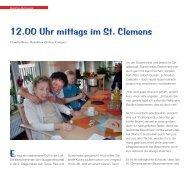 12.00 Uhr mittags im St. Clemens - Caritasverband Duisburg e.v.