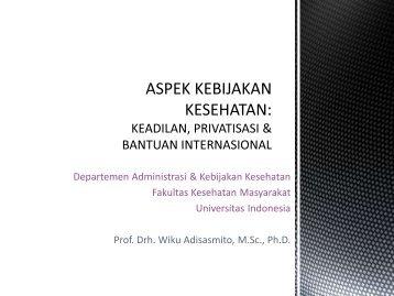 aspek kebijakan kesehatan - Blog Staff UI - Universitas Indonesia