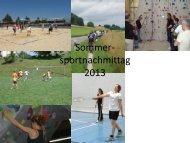 Sommer- sporttag 2013 - KV Lenzburg Reinach