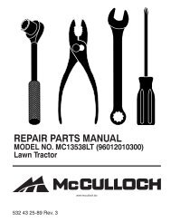 ipl, mc13538lt, 2010-06, tractors/ride mowers, 96012010300 - Klippo