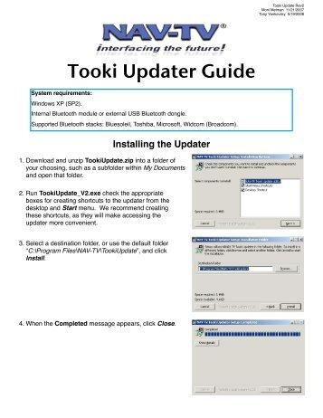 Tooki Updater Guide - Nav-TV